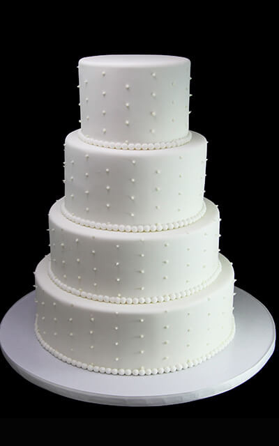 Swiss Dot Wedding Cakes  Examples A La Carte Gallery Butterfly Bake Shop in