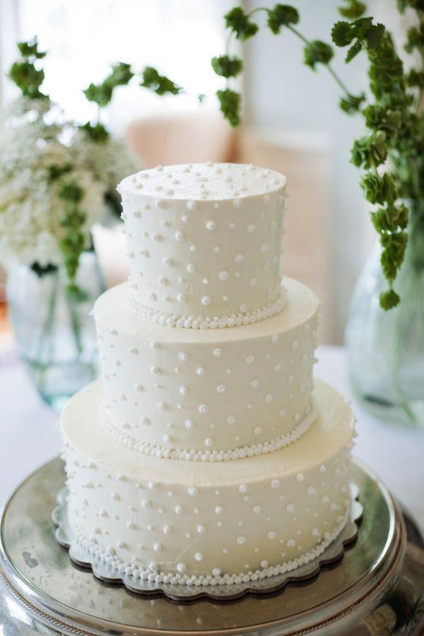 Swiss Dot Wedding Cakes  classic white wedding cake with swiss dots