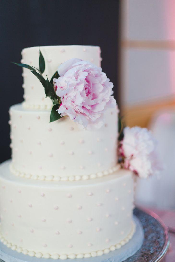 Swiss Dot Wedding Cakes  Buttercream Swiss Dot Wedding Cake