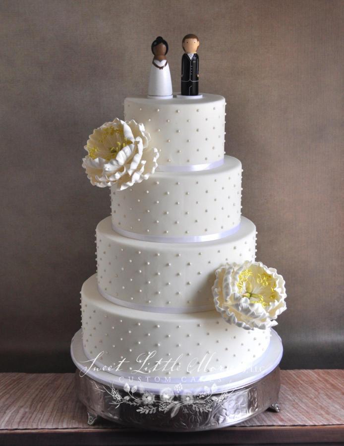 Swiss Dot Wedding Cakes  Classic Swiss Dot Wedding Cake cake by Stephanie