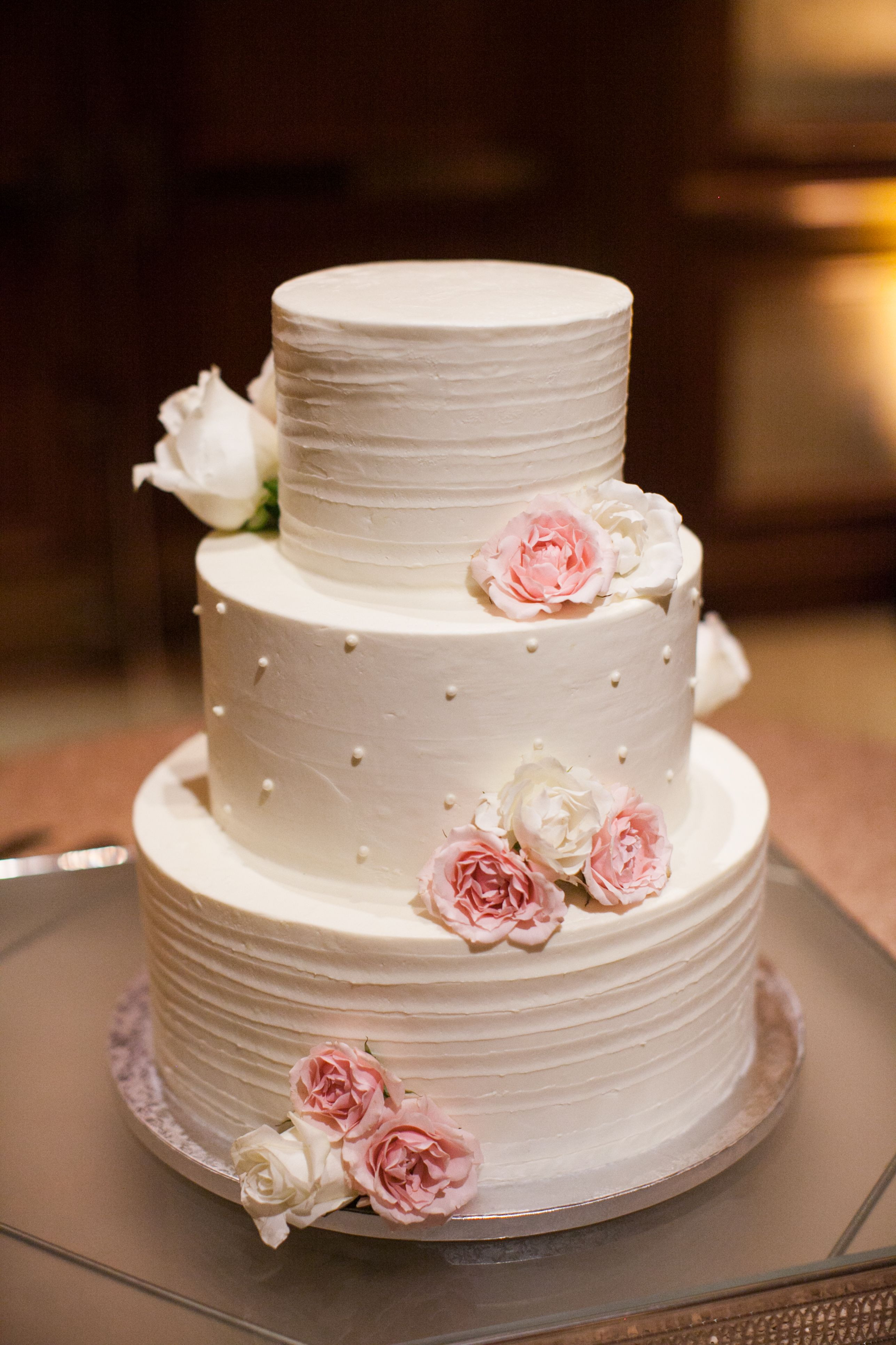 Swiss Dot Wedding Cakes  Swiss Dot White Buttercream Wedding Cake