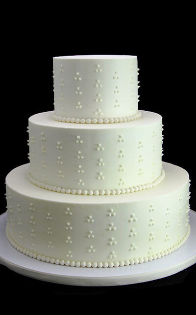 Swiss Dot Wedding Cakes  Examples A La Carte Gallery Archives Butterfly Bake