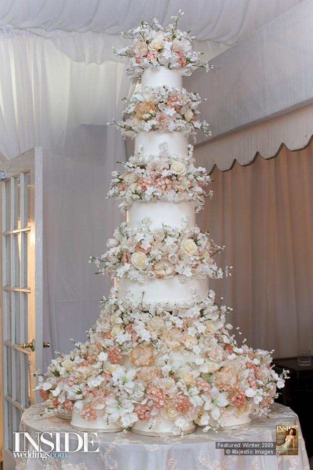 Sylvia Weinstock Wedding Cakes  Sugar Flowers on Wedding Cakes Inside Weddings