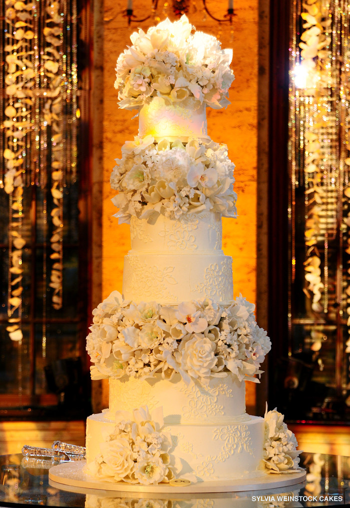 Sylvia Weinstock Wedding Cakes  40 Wedding Cake Designs with Elaborate Fondant Flowers