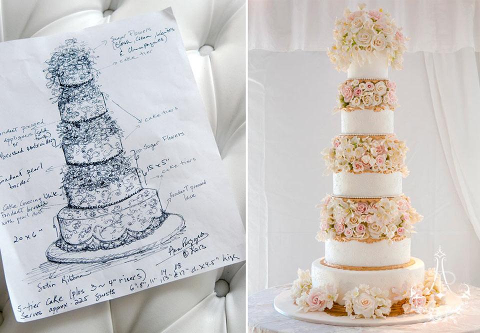 Tall Wedding Cakes  Tall Wedding Cake CT Wedding Cake by Ana Parzych Cakes