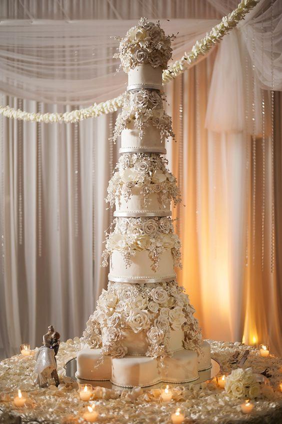 Tall Wedding Cakes  Praise Worthy Taller Wedding Cakes – WeddCeremony