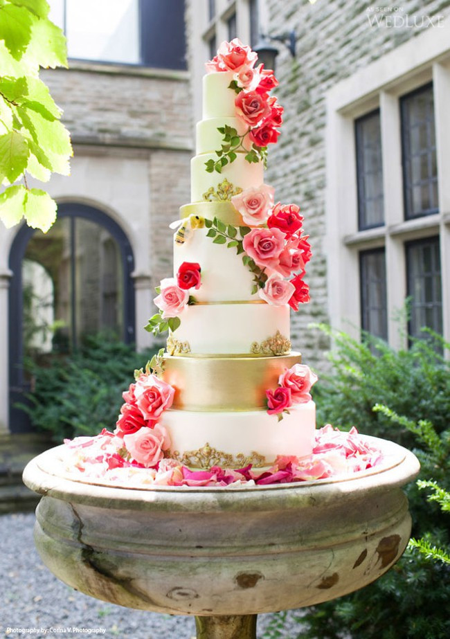 Tall Wedding Cakes  Tall Cakes Fit for Spring Lovella Bridal