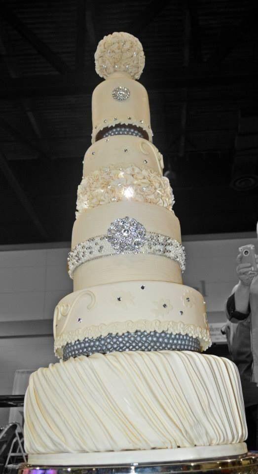 Tall Wedding Cakes  Tall wedding cake Wedding cakes Pinterest
