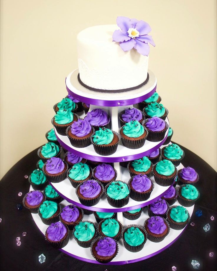 Teal And Purple Wedding Cakes  Best 25 Purple teal weddings ideas on Pinterest