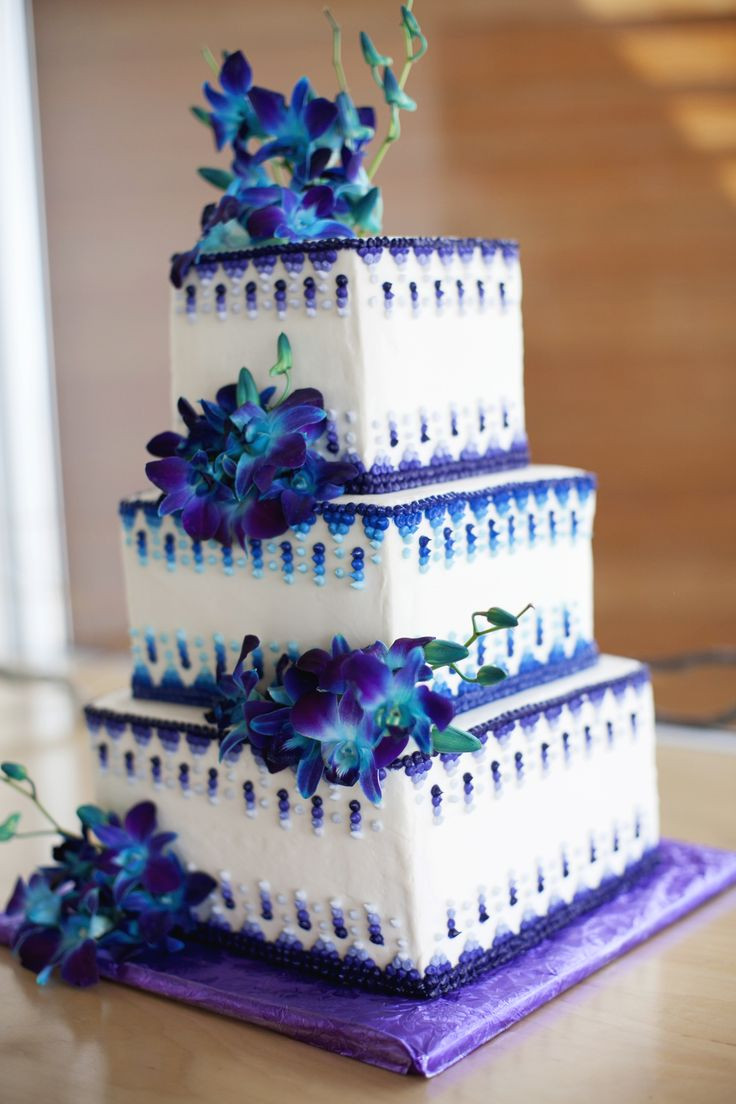 Teal And Purple Wedding Cakes  Teal and purple wedding cakes idea in 2017