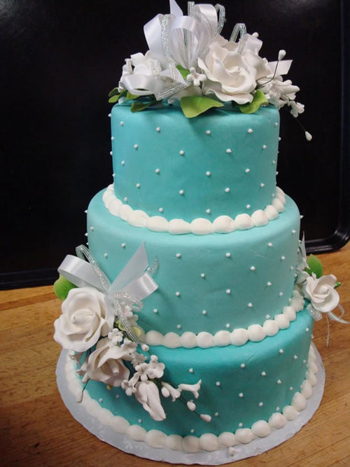 Teal And Purple Wedding Cakes  teal and purple wedding