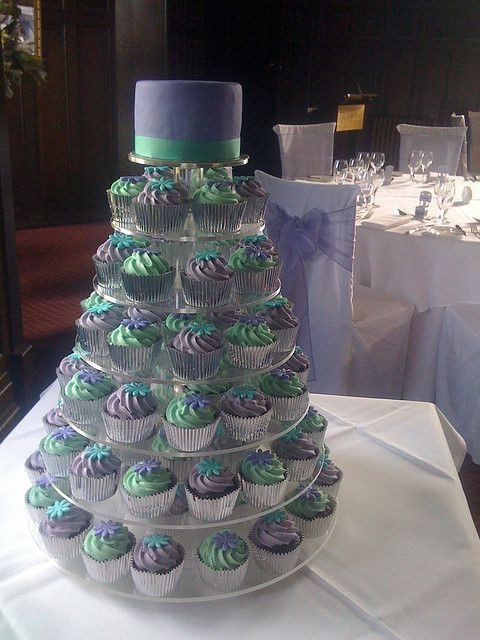 Teal And Purple Wedding Cakes  Teal & Purple Wedding cake idea I like but the color s are