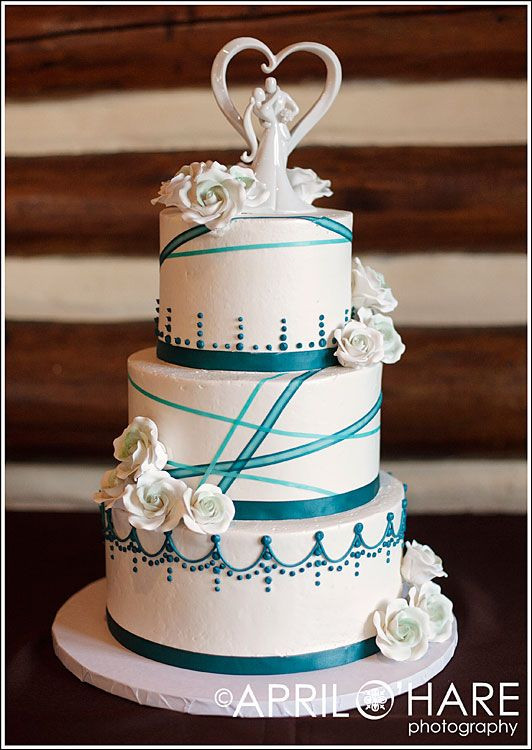 Teal And White Wedding Cake  Best 25 Teal wedding cakes ideas on Pinterest