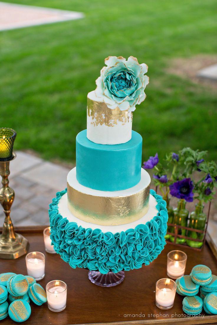 Teal And White Wedding Cakes  Wedding Cakes Trilogy at Vistancia Weddings