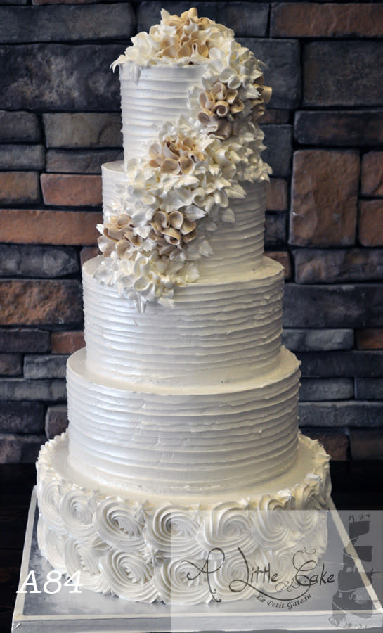 Textured Buttercream Wedding Cakes  5 Tiered Textured Buttercream Iced Wedding Cake cake by