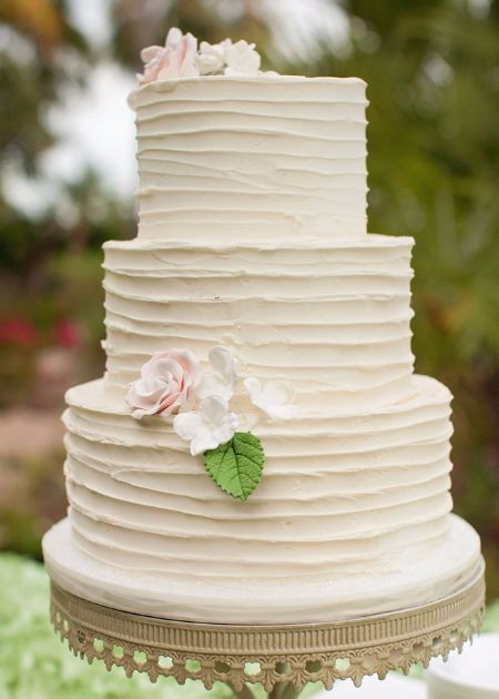 Textured Buttercream Wedding Cakes  Textured Buttercream wedding cake