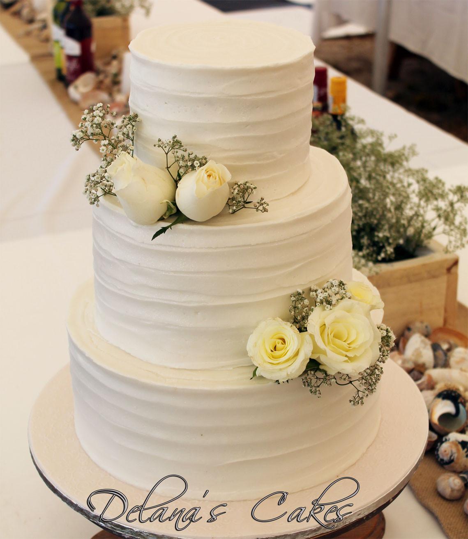 Textured Wedding Cakes  Delana s Cakes Textured icing Wedding cake