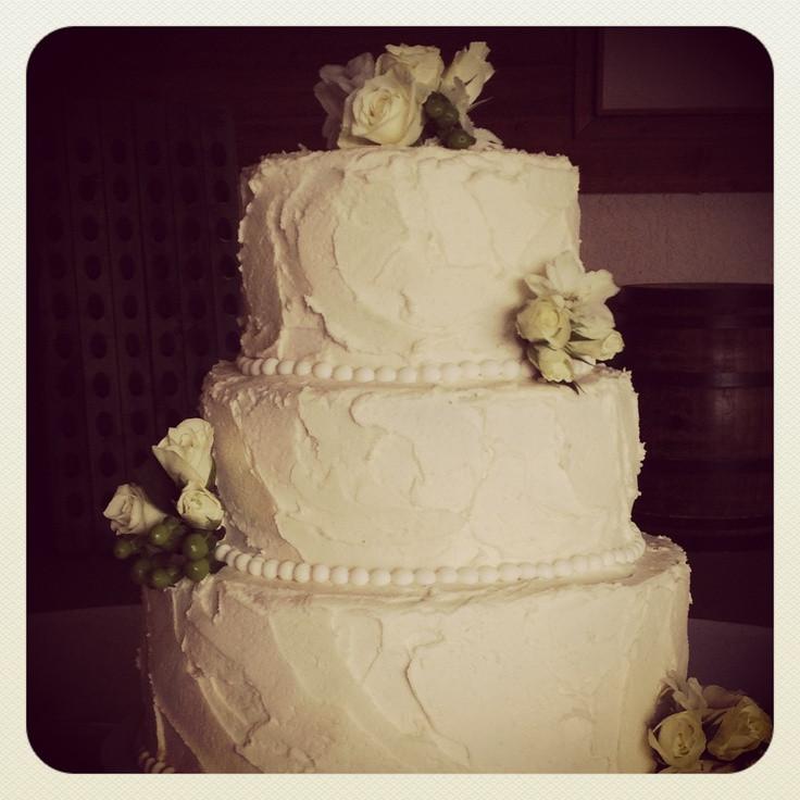 Textured Wedding Cakes  Textured buttercream wedding cake