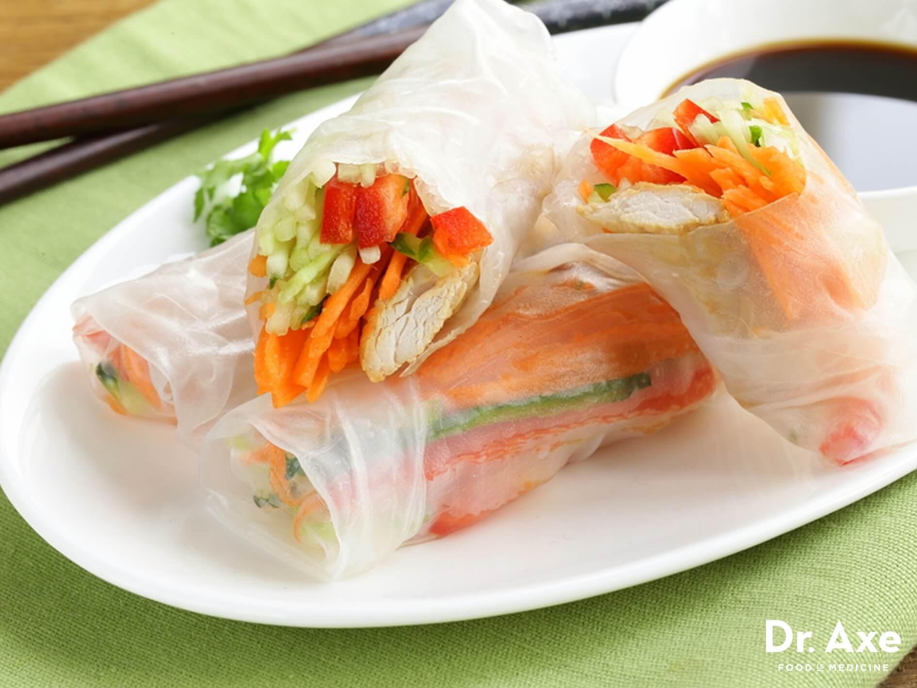 Thai Summer Rolls Recipes  Thai Spring Rolls Recipe Dr Axe