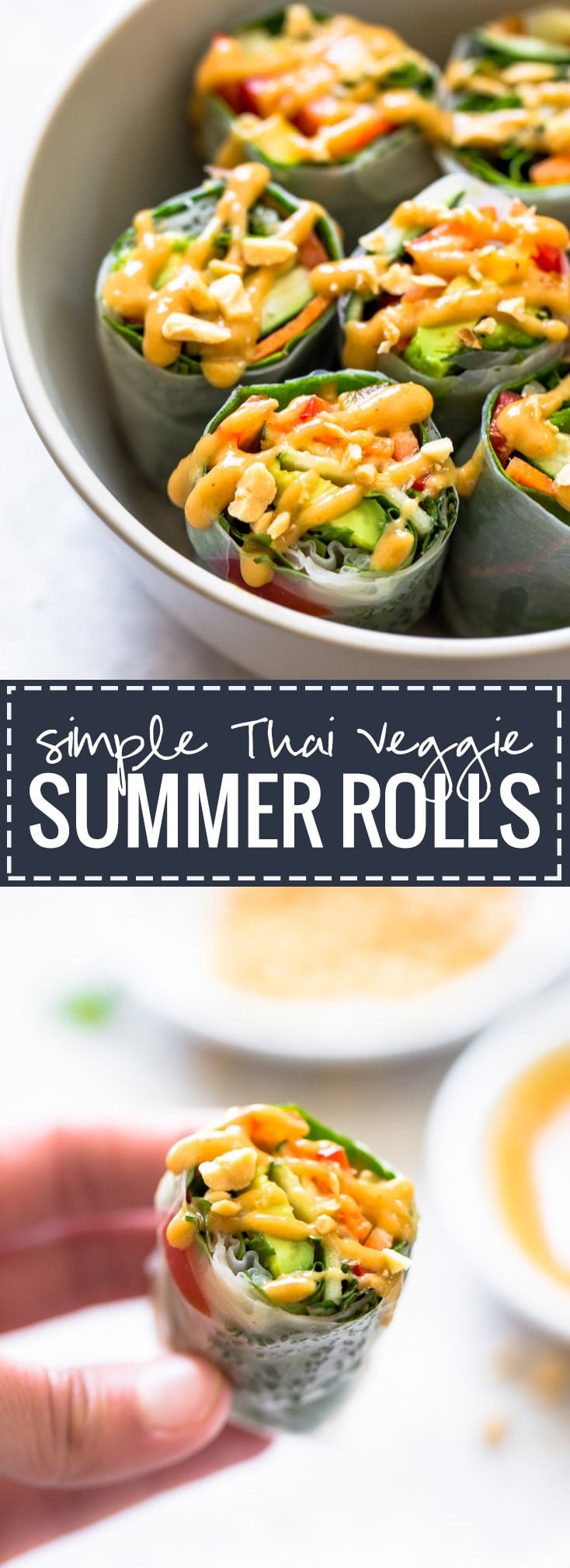 Thai Summer Rolls Recipes  Thai Summer Rolls with Peanut Sauce Recipe Pinch of Yum