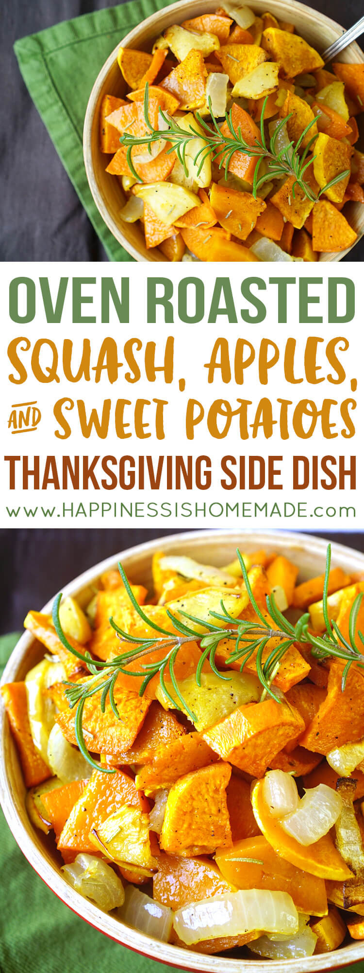 Thanksgiving Sweet Potatoes Recipes Healthy  Roasted Sweet Potatoes Squash & Apples Happiness is