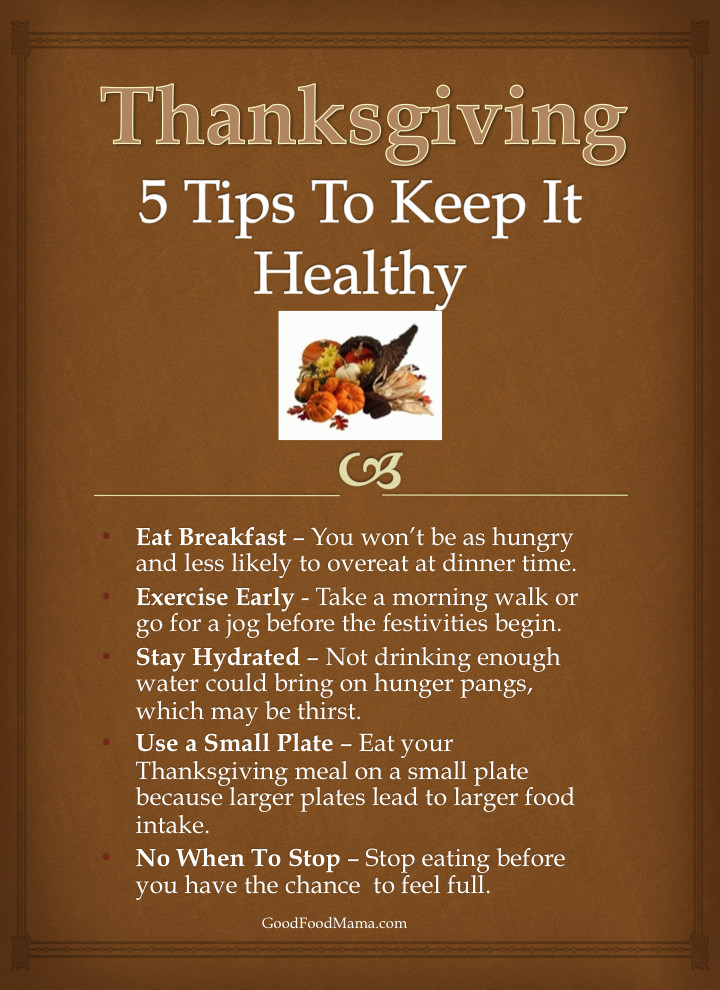 Thanksgiving Tips For Healthy Eating  5 Tips for a Healthy Thanksgiving