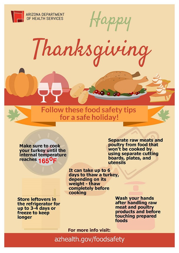 Thanksgiving Tips For Healthy Eating  Keep Your Thanksgiving Feast Safe – AZ Dept of Health