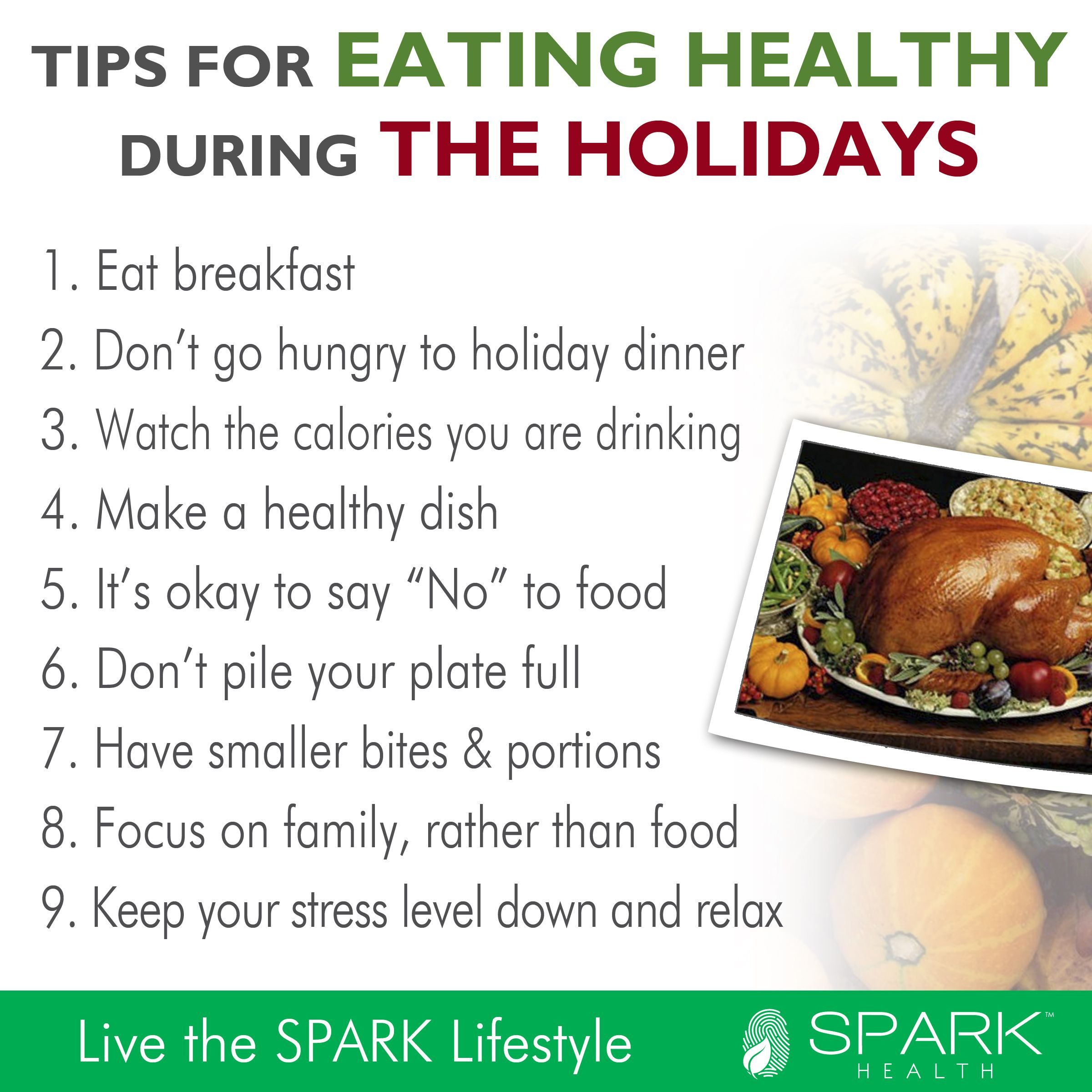 Thanksgiving Tips For Healthy Eating  Healthy holiday eating tips for Thanksgiving and Christmas