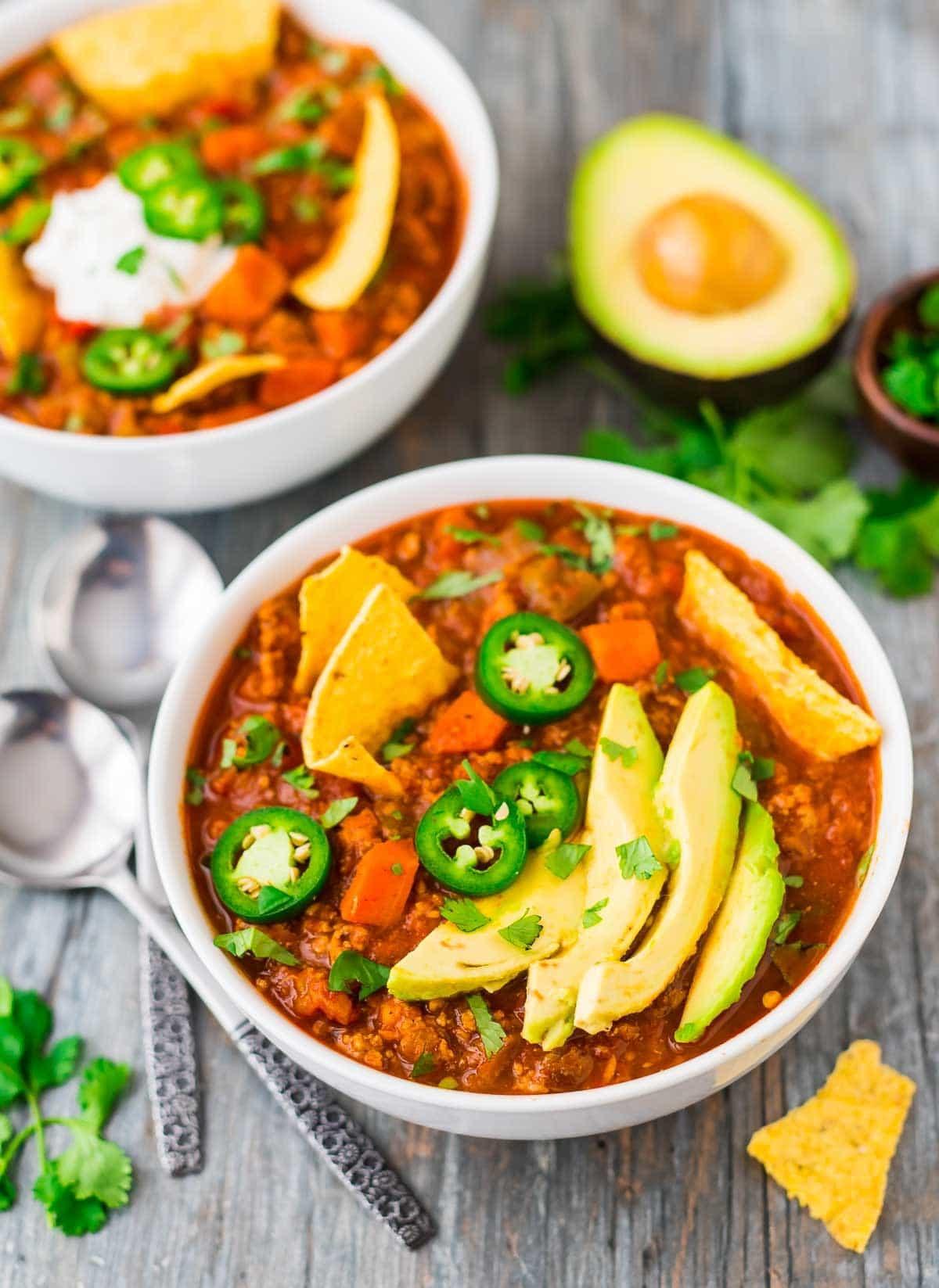 The Best Healthy Turkey Chili  Healthy Turkey Chili
