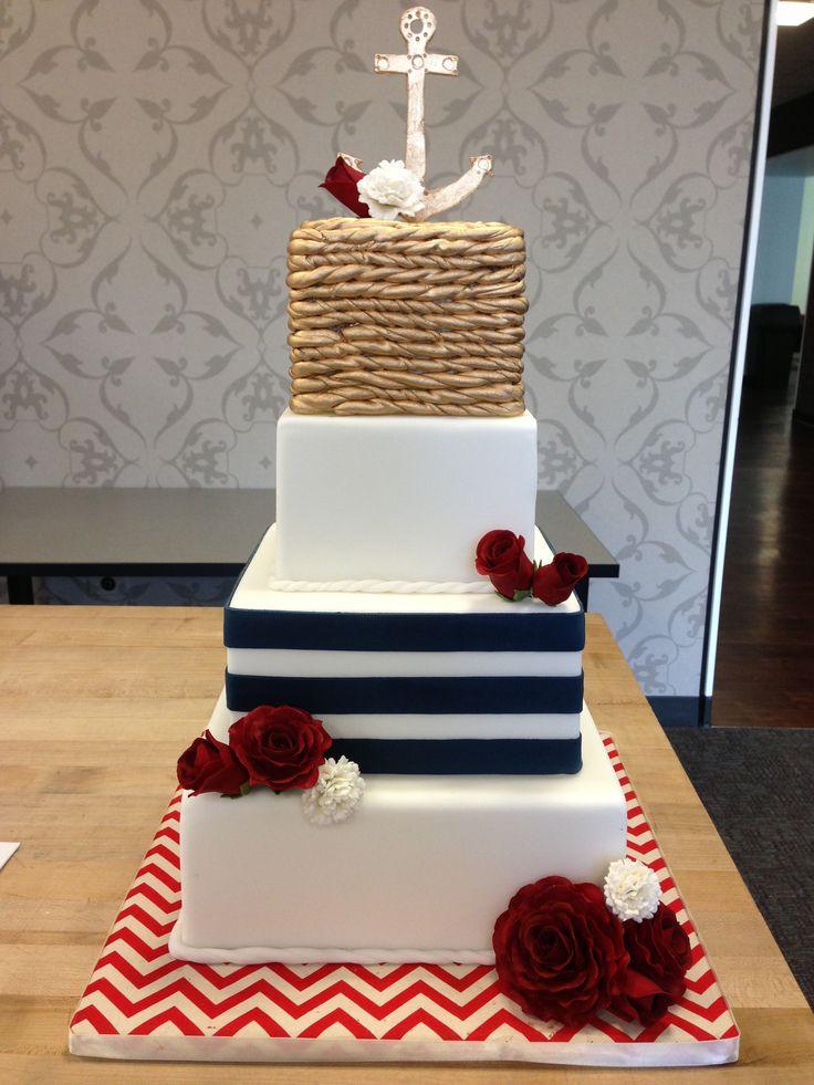 Themed Wedding Cakes  Nautical Wedding Theme