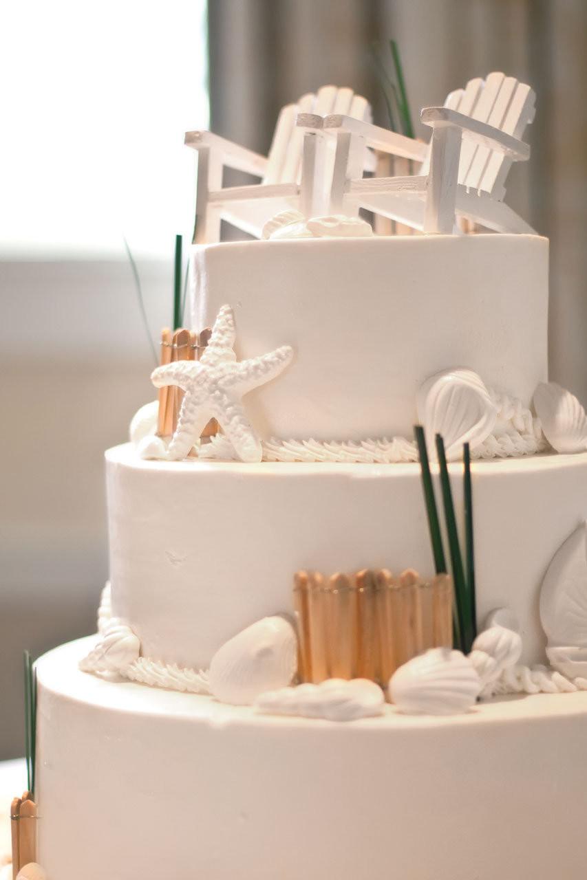Themed Wedding Cakes  Beach Fete Elizabeth & Michael in Cape Cod MA