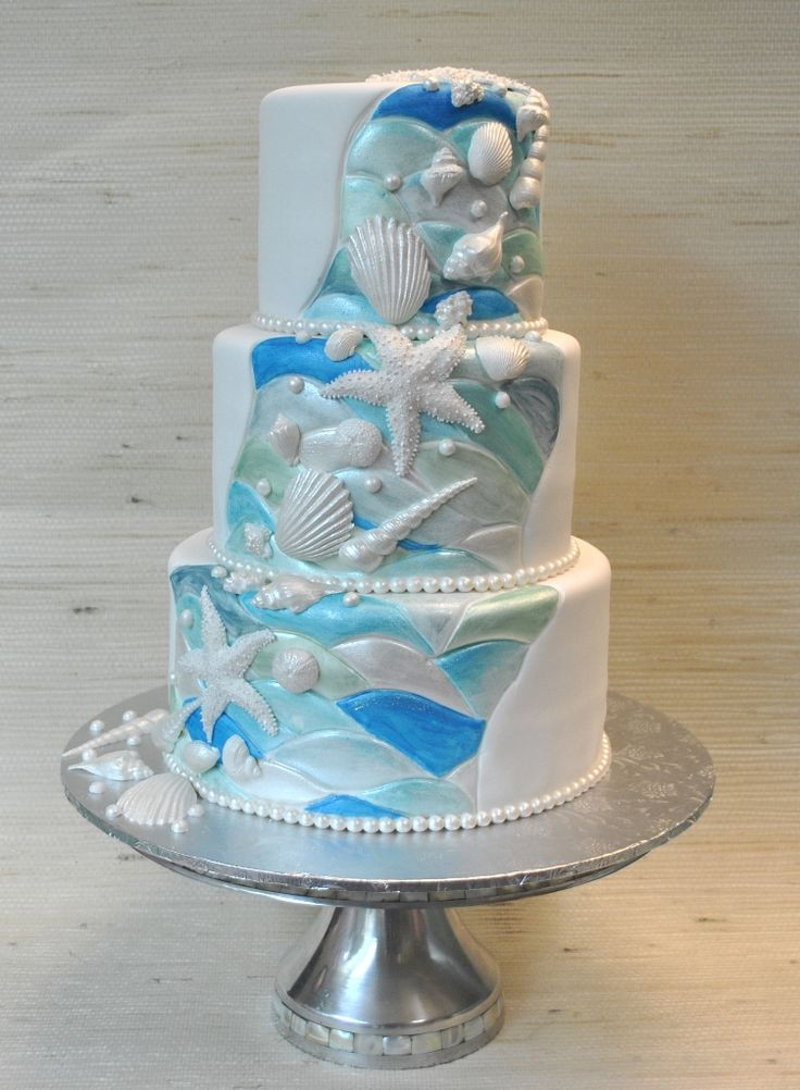 Themed Wedding Cakes  1000 images about Beach and ocean theme wedding cakes on