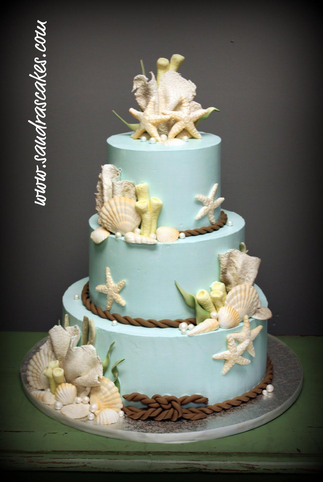Themed Wedding Cakes  Beach Themed Wedding Cakes