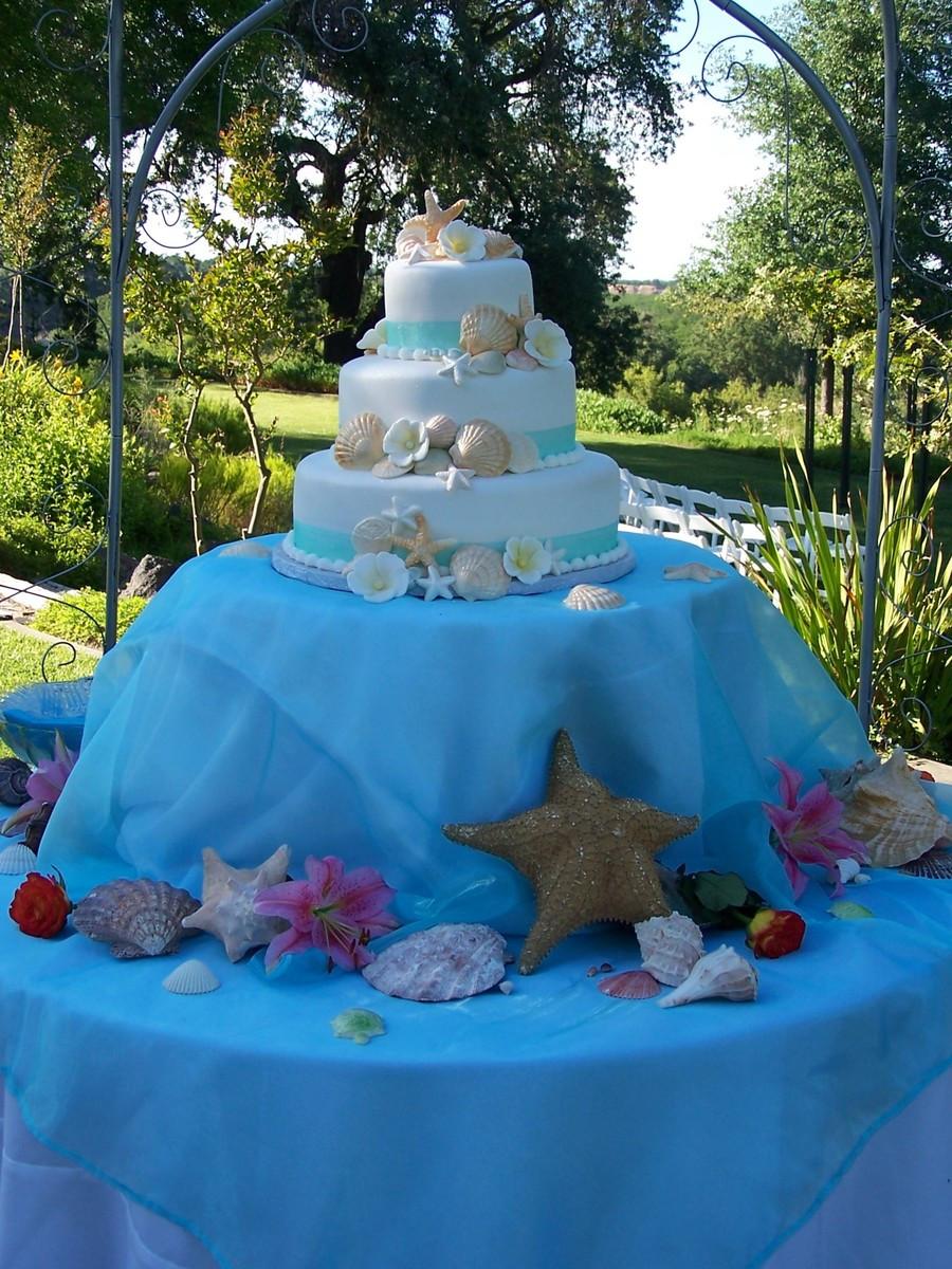 Themed Wedding Cakes  Beach Theme Wedding Cake CakeCentral