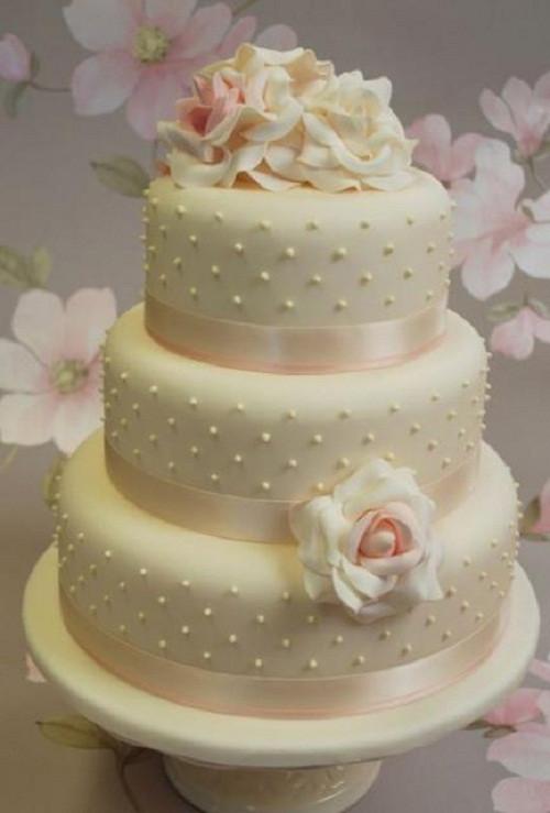 Three Tear Wedding Cakes  3 tier wedding cakes square