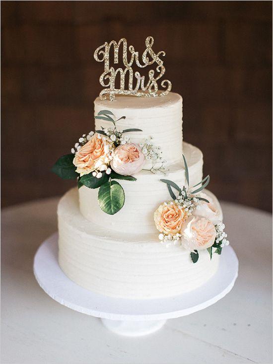 Three Tear Wedding Cakes  Mint Shabby Chic Wedding