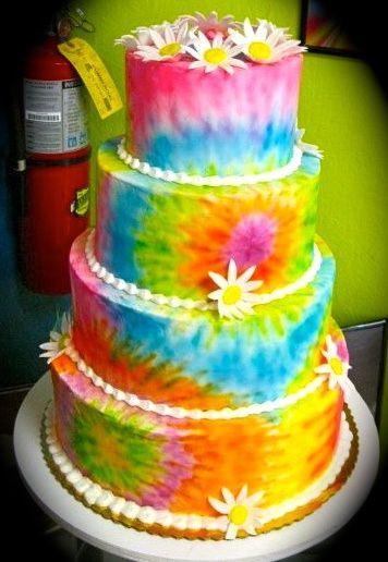 Tie Dye Wedding Cakes  30 best cake ideas images on Pinterest