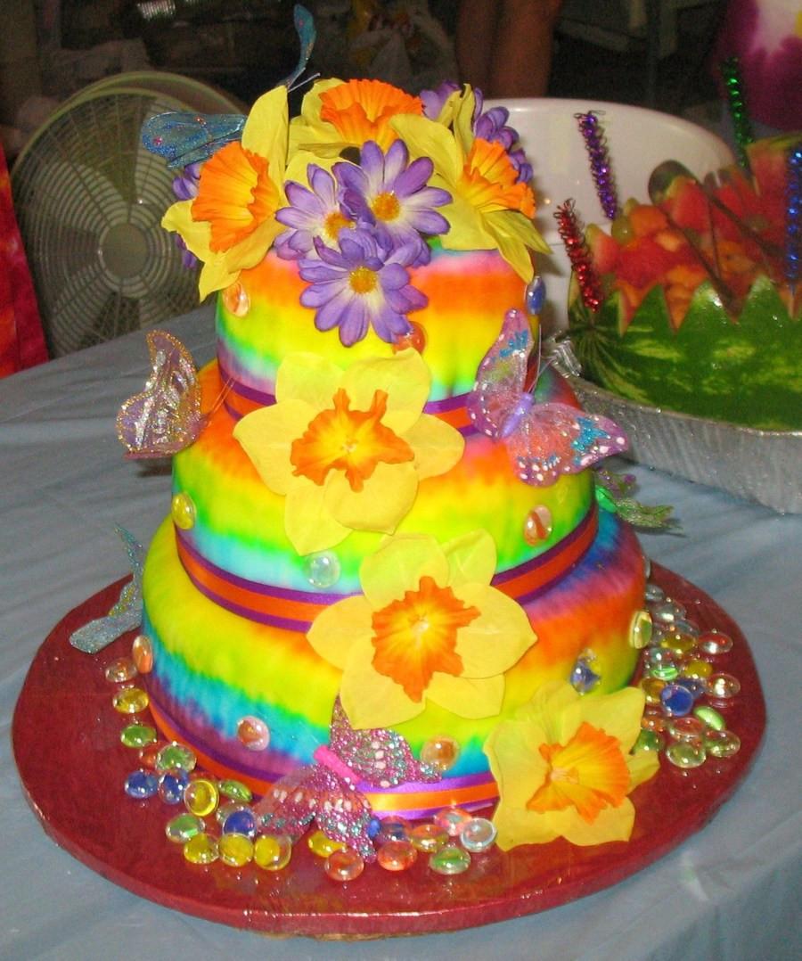 Tie Dye Wedding Cakes  Tie Dye Wedding Cake Better Pics CakeCentral