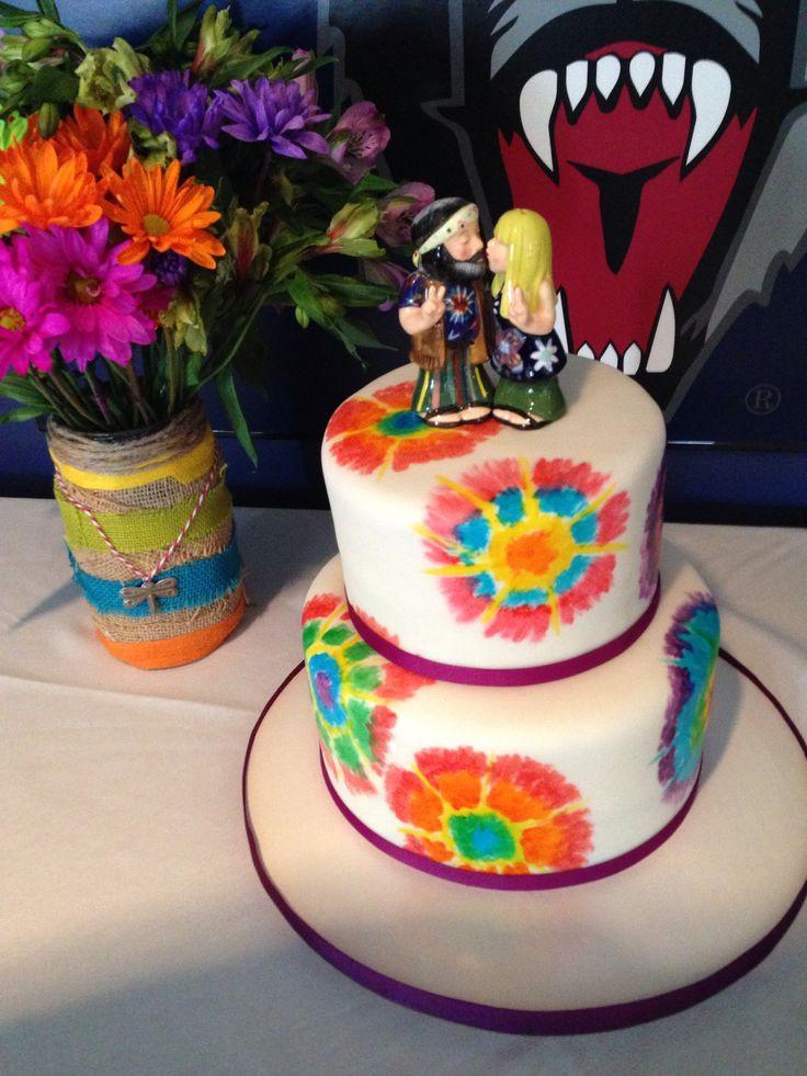 Tie Dye Wedding Cakes  Tie dye wedding cakes idea in 2017