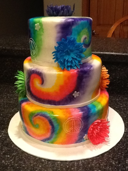 Tie Dye Wedding Cakes  Tie dye Cake Decorating munity Cakes We Bake