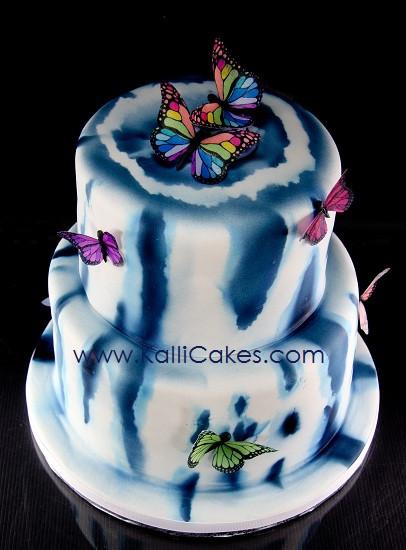 Tie Dye Wedding Cakes  Tie Dye Wedding Cake