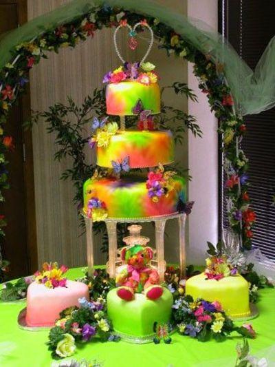 Tie Dye Wedding Cakes  Tie dye wedding cake wedding cakes Juxtapost