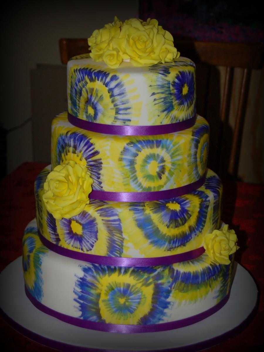 Tie Dye Wedding Cakes  Tie Dye Wedding Cake Decorating munity Cakes We Bake