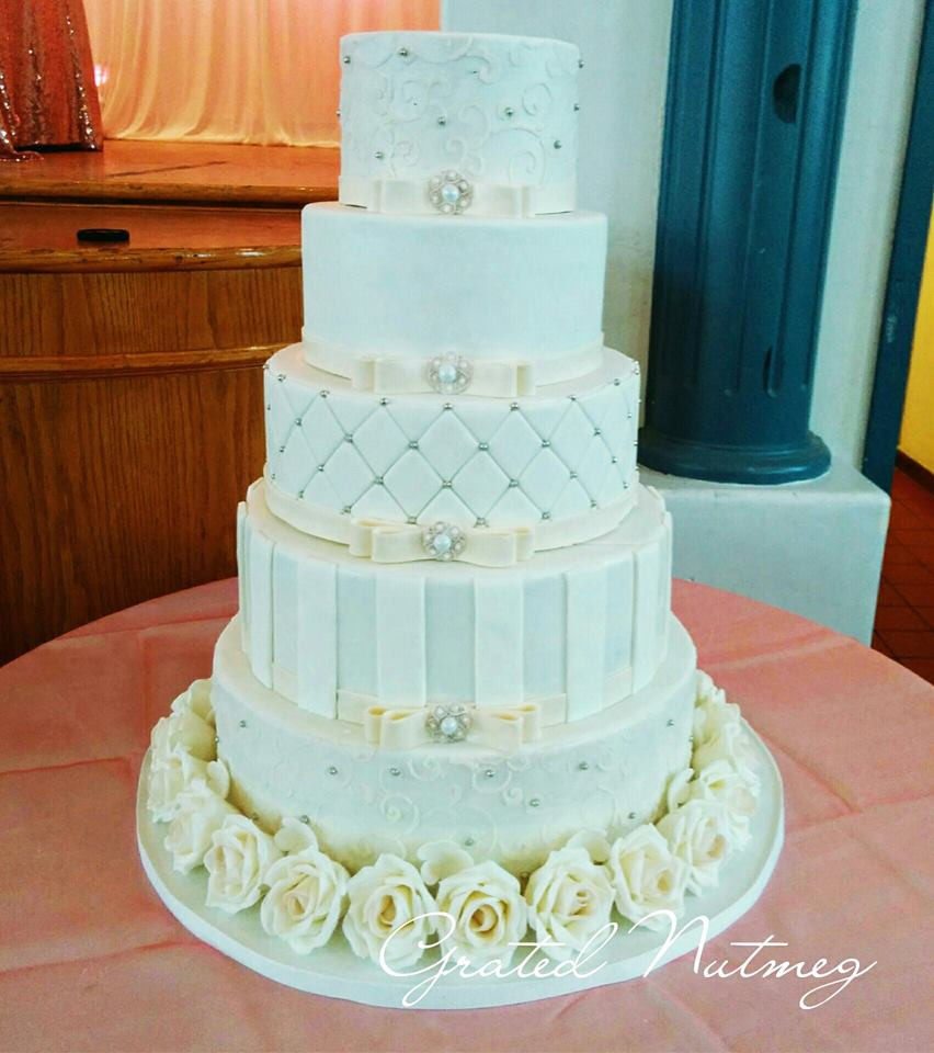 Tiered Wedding Cakes  The Making of a Five Tier Wedding Cake – Grated Nutmeg