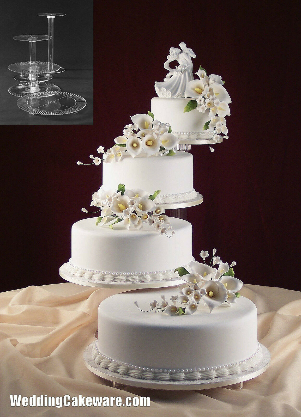 Tiered Wedding Cakes  Wedding Cakes Stands Bling Wedding Cake Stand Drum 18