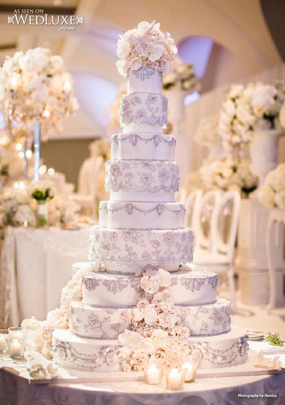 Tiered Wedding Cakes  Luxury Wedding Cakes Archives Weddings Romantique