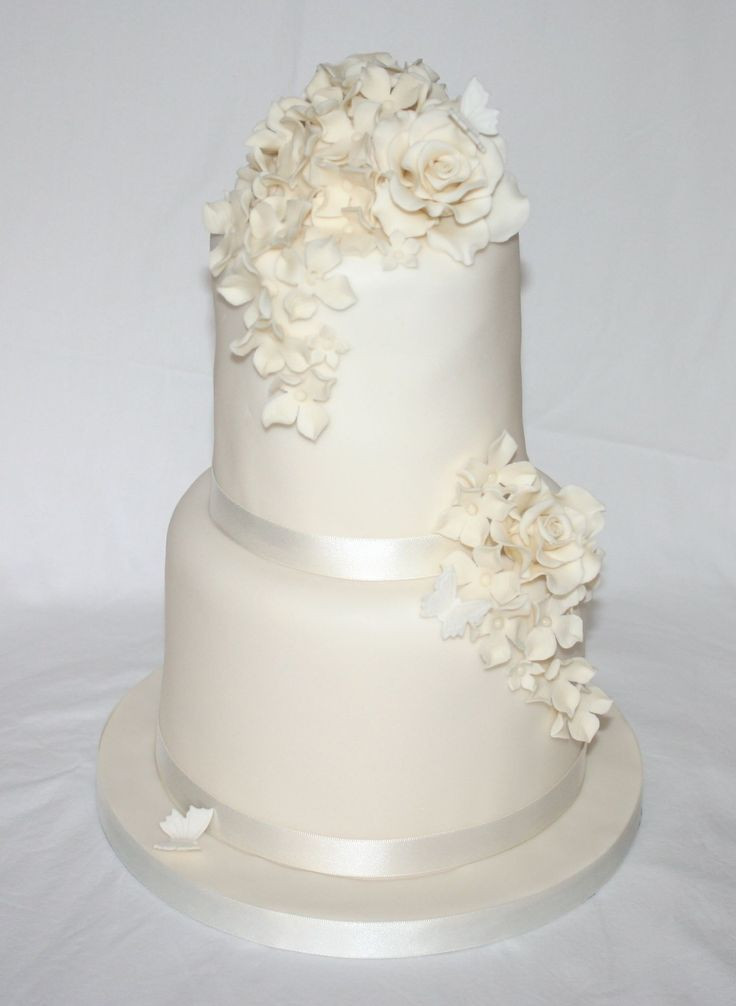 Tiered Wedding Cakes  Simple Tiered Wedding Cakes Wedding and Bridal Inspiration