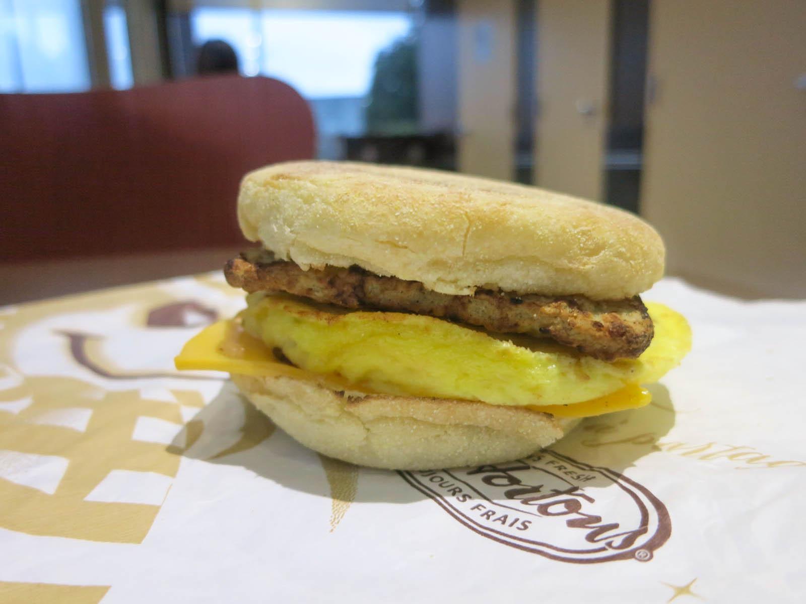 Tim Hortons Healthy Breakfast  Tim Hortons Turkey Sausage Breakfast Sandwich