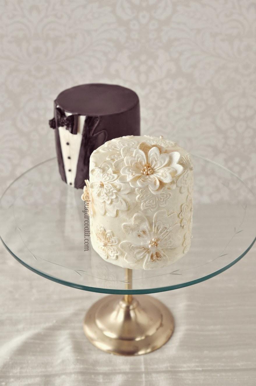 Tiny Wedding Cakes  Mini Vintage Wedding Cakes I Sugar Coat It