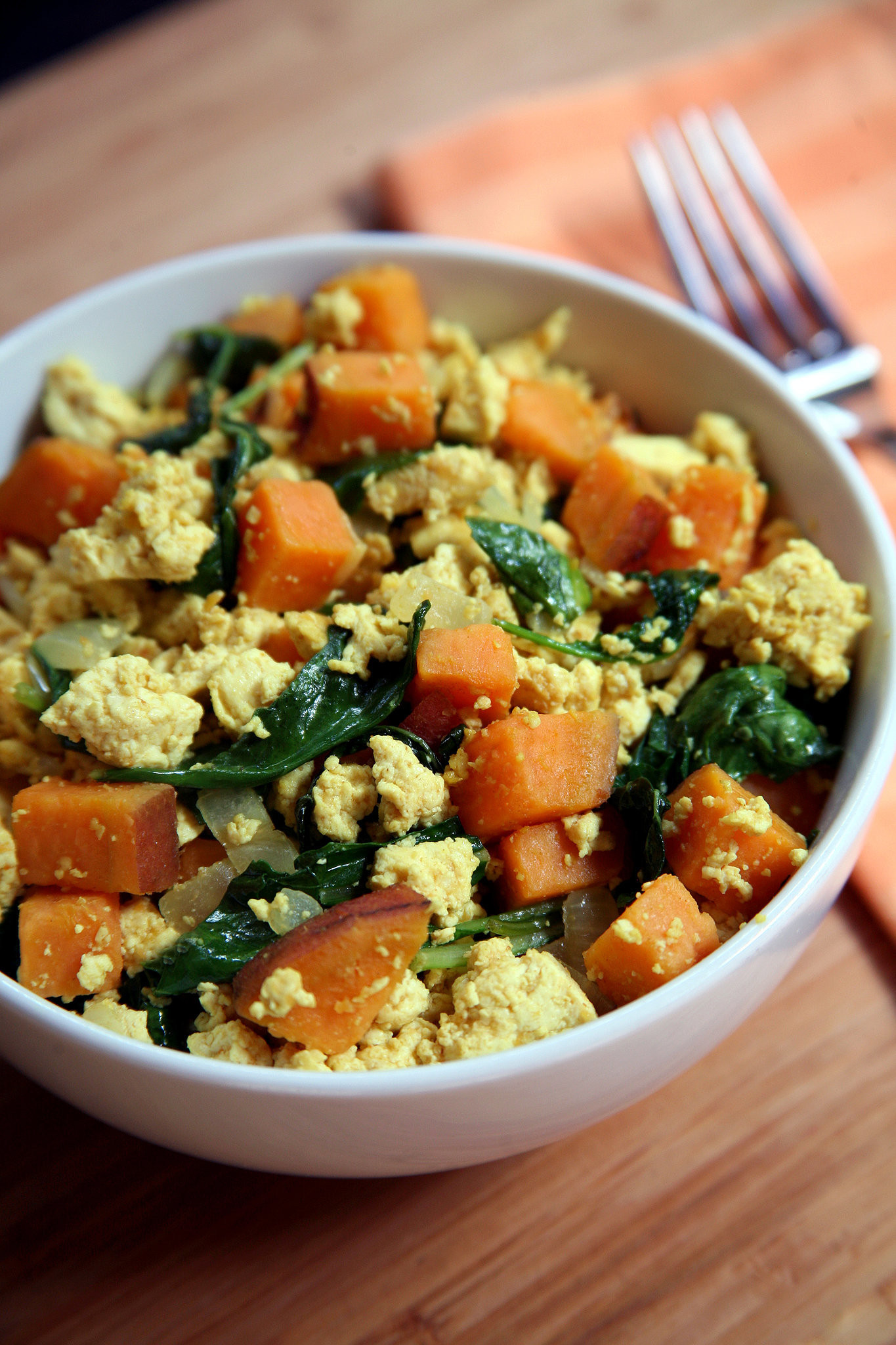 Tofu Recipes Healthy  Vegan Breakfast Recipes Tofu Kale Sweet Potato Scramble